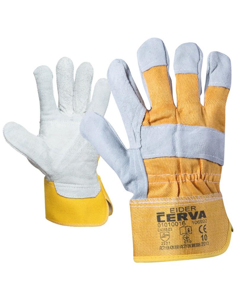 Работни ръкавици от кожа и плат EIDER