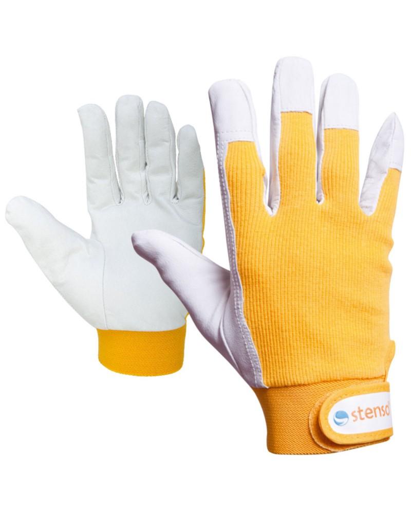 Ръкавици от кожа и плат GILT YELLOW