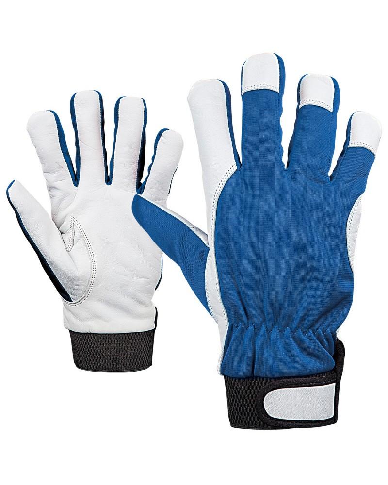 Ръкавици зимни от кожа и плат GILT