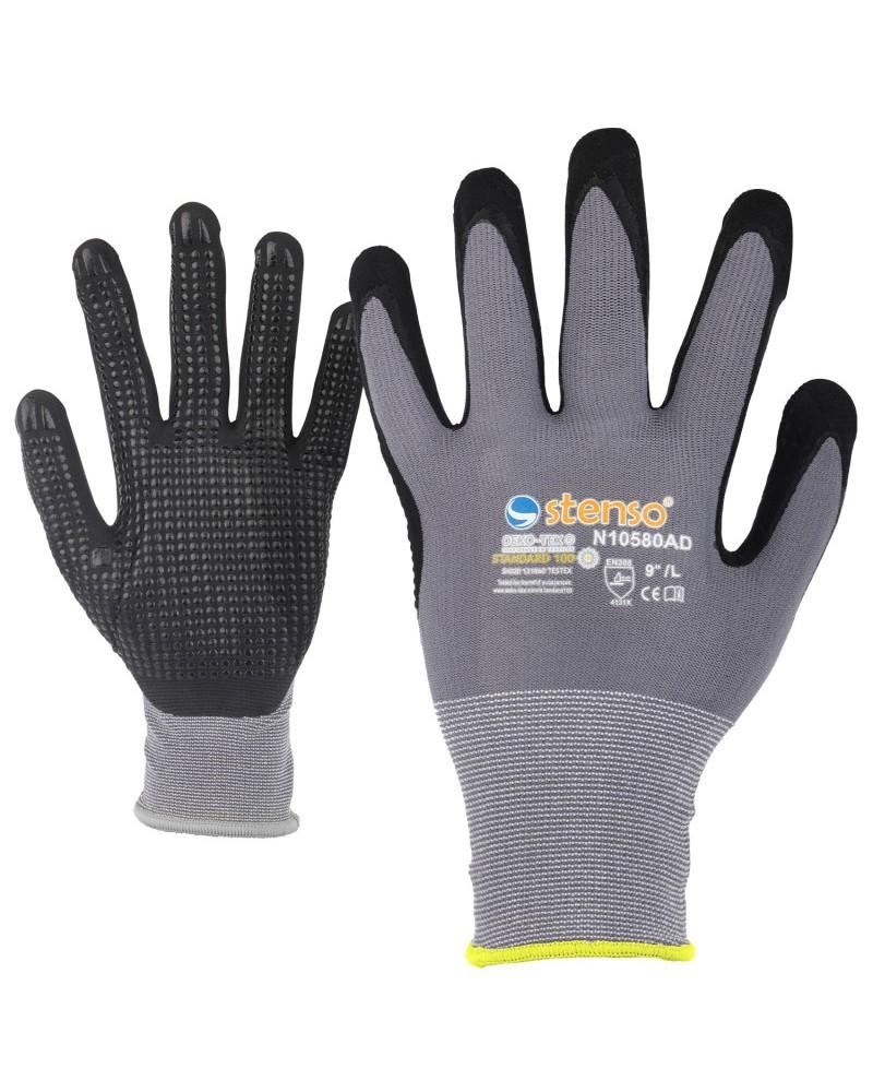 Ръкавици топени в нитрил NITRO DOTS